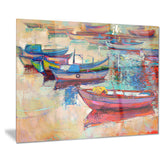 boats and ocean seascape painting canvas print PT7825