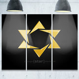 luxury golden star modern digital artwork print PT7875