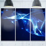 blue musical background abstract digital art canvas print PT7878