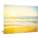 calm and colorful sunset at beach seascape photo canvas print PT7895