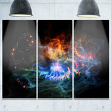 flame lights of network abstract digital art canvas print PT7914