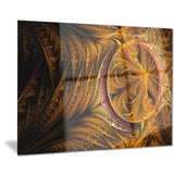 golden fractal desktop wallpaper abstract digital canvas print PT7926