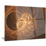 softly glowing circles golden abstract digital art canvas print PT7929
