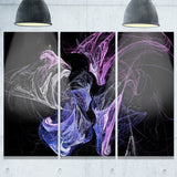 billowing smoke blue purple abstract digital art canvas print PT7934