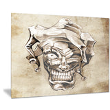 fantasy clown joker portrait digital art canvas print PT7946