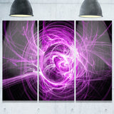wisps of smoke purple in black abstract digital art canvas print PT7968