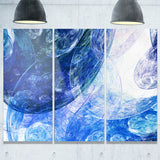 light blue swirling clouds abstract digital art canvas print PT7973