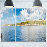 the bay of havana panorama seascape photo canvas print PT7991