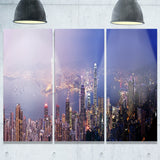 hong kong from day to night cityscape photo canvas print PT7997