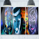 earth fire air and water abstract portrait canvas print PT7999
