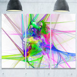 glowing ball of smoke abstract digital art canvas print PT8006