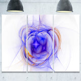 blue bright star nebula abstract digital art canvas print PT8007