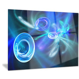 blue fractal desktop wallpaper abstract digital art canvas print PT8010