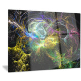 wings of angels yellow abstract digital art canvas print PT8020