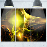 golden bright candle abstract digital art canvas print PT8032