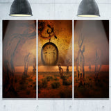 end of time abstract digital art canvas print PT8038