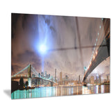 lighted new york city cityscape photo canvas print PT8043