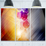 glowing colored spheres abstract digital art canvas print PT8093
