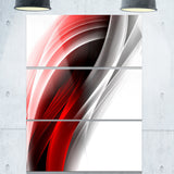 3d pink silver vertical lines abstract digital art canvas print PT8120