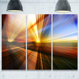 rays of speed reflection abstract digital art canvas print PT8128