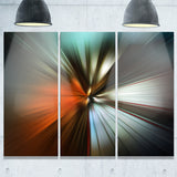 brown focus color abstract digital art canvas print PT8149
