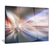 white focus color abstract digital art canvas print PT8151