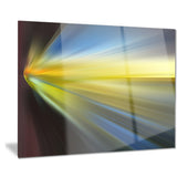 brown blue focus light abstract digital art canvas print PT8156