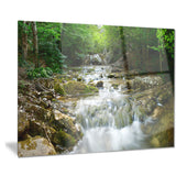 natural spring waterfall landscape photo canvas print PT8163