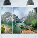 lake between mountains landscape photo canvas print PT8164
