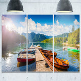 bohinj lake sunny morning landscape photo canvas print PT8168