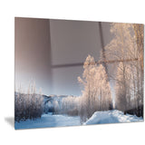 futuristic winter sky landscape photo canvas print PT8169