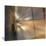 glowing brown focus light abstract digital canvas print PT8185