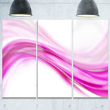 pink abstract waves abstract digital art canvas print PT8215