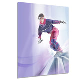 pretty female snowboarder portrait digital art canvas print PT8251