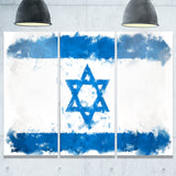 israel flag illustration flag painting canvas print PT8258