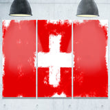 switzerland flag illustration flag painting canvas print PT8261