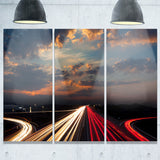long exposure traffic abstract digital art canvas print PT8264
