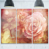 pink roses in vintage style floral digital canvas art print PT8292