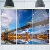 sunset over brooklyn bridge cityscape photo canvas print PT8306