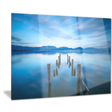 deep into the sea pier seascape photo canvas print PT8380