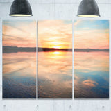 sensational sunset in australia seascape photo canvas print PT8402