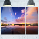 night sky over river with clouds modern photo canvas print PT8421