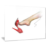 leg wearing high heel red shoe portrait digital art canvas print PT8427