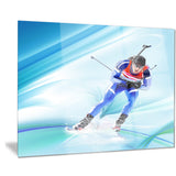 extreme male skier portrait digital art canvas art print PT8431