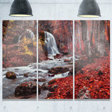 silver stream waterfall wide landscape photo canvas print PT8436