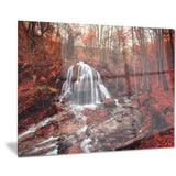 silver stream waterfall close up landscape photo canvas print PT8438