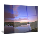 stars and clouds reflection landscape photo canvas print PT8448