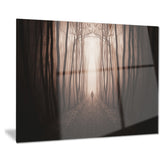 man in surreal forest with fog landscape photo canvas print PT8481