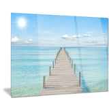 pier infinite to the sea seascape photo canvas print PT8642