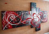 Red Abstract Oil Painting 1007 - 64x32in